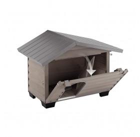 Ferplast Canada 4 /дървена къща за куче/-110x69,5x78см
