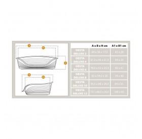 Ferplast Siesta Deluxe 2 /пластмасово легло с дюшече/-49x36x17,5см