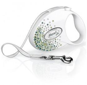 Flexi® Glam Splash Leaf Tape S /автоматичен повод за куче/-3м
