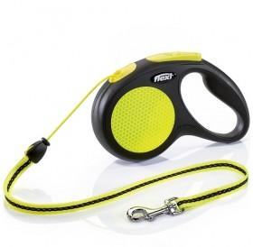 Flexi NEON Medium Cord /автоматичен повод за кучета до 20кг въже/-5м