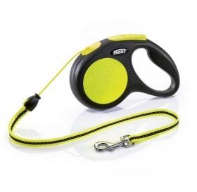 Flexi NEON XSmall Cord /автоматичен повод за кучета и котки до 8кг въже/-3м