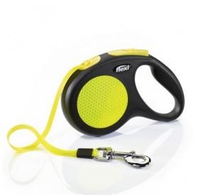 Flexi NEON XSmall Tape /автоматичен повод за кучета до 12кг лента/-3м