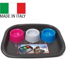Georplast Trio /пластмасов комплект купи за хранене с поставка/-52x41x9см