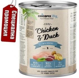 Chicopee Dog Junior Chicken&Duck /храна за подрастващи кученца с пилешко и патешко месо/-6x800гр