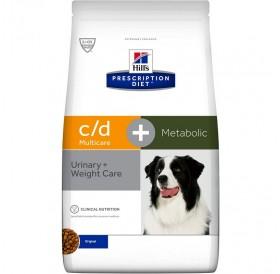 Hill's Prescription Diet™ c/d™ Multicare + Metabolic Canine /Комбинирана Диета За Разтваряне Струвитни Уролити И Профилактика На Оксалатни Уролити И Наднормено Тегло При Кучета/-12кг