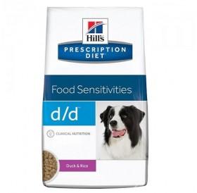 Hill's Prescription Diet™ d/d™ Canine Duck&Rice /диета за израснали кучета проявяващи хранителна алергия с патешко месо и ориз/-2кг