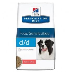 Hill's Prescription Diet™ d/d™ Canine Salmon&Rice /диета за израснали кучета проявяващи хранителна алергия със сьомга и ориз/-2кг