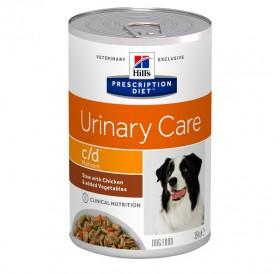 Hill's Prescription Diet™ c/d™ Multicare Canine /Диета За Разтваряне Струвитни Уролити И Профилактика На Оксалатни Уролити При Кучета (Задушено Пилешко И Зеленчуци)/-354гр