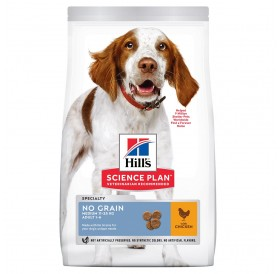 Hill's Science Plan™ Adult No Grain Medium Chicken /храна за израснали кучета от средни породи без съдържание на зърнени култури/-14кг