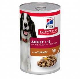 Hill's Science Plan Canine Adult Turkey /храна за израснали кучета с пуешко месо/-370гр