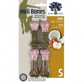 JR Farm Holi Bones /лакомство за куче кожен кокал с патешко месо,ябълки и кокос/-2бр