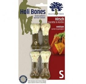JR Farm Holi Bones /лакомство за куче кожен кокал с еленско месо,моркови и тиква/-2бр