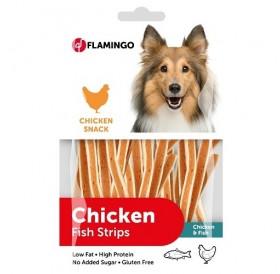 Karlie Flamingo Chick'n Snack Strips /меки ленти с пилешко месо и морска треска/-85гр