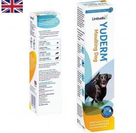 Lintbells® YuDERM® Moulting Dog /хранителна добавка за кучета от есенциални масла за здрава кожа и козина/-250мл
