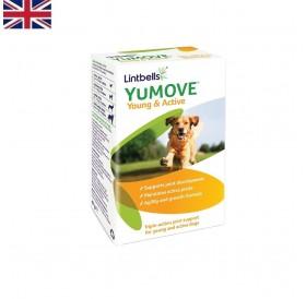 Lintbells YuMOVE Young&Active /овкусени таблетки за изграждане на здрави стави при подрастващи кученца/-60бр