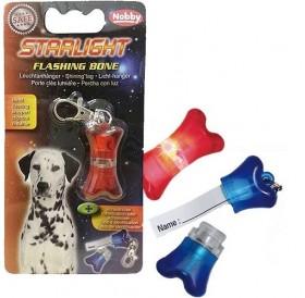 Nobby Starlight Flashing Bone /светещ адресник за куче/-4х2см