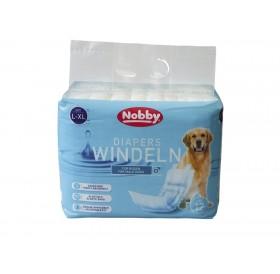Nobby Diapers For Male Dogs L-XL /Памперс Гащи За Мъжки Кучета/-12бр
