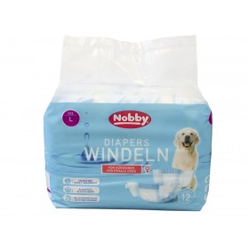 Nobby Diapers For Female Dogs L /Памперс Гащи За Женски Кучета/-12бр