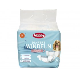 Nobby Diapers For Female Dogs M /Памперс Гащи За Женски Кучета/-12бр