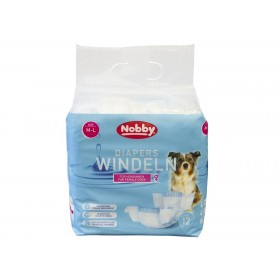 Nobby Diapers For Female Dogs M-L /Памперс Гащи За Женски Кучета/-12бр