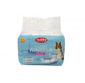 Nobby Diapers For Female Dogs S-M /Памперс Гащи За Женски Кучета/-12бр