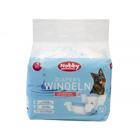 Nobby Diapers For Female Dogs XL /Памперс Гащи За Женски Кучета/-12бр