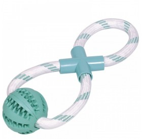 Nobby Dental Line Rubber Ball With Rope /Дентална Играчка За Кучета Топка С Въже/-30см