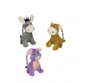 Nobby Plush Animal With Rope /Играчка За Кучета Плюшено Животно С Въже/-14см