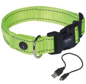 Nobby Collar Flash Mesh XS-S /USB Светещ Нашийник За Куче/-2x28-38см
