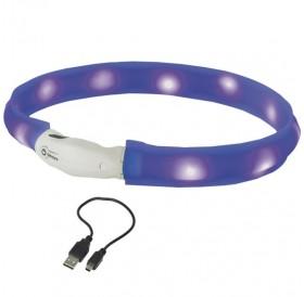 Nobby LED Light Ribbon Wide Visible S /USB Светещ Нашийник За Куче/-Ø2,5x40см