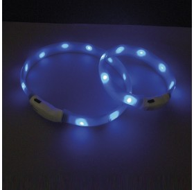 Nobby LED Light Ribbon Wide Visible L /USB Светещ Нашийник За Куче/-Ø2,5x70см
