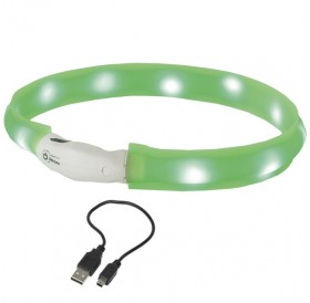 Nobby LED Light Ribbon Wide Visible S /USB Светещ Нашийник За Куче/-Ø2,5x40см