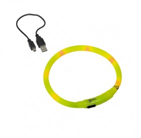 Nobby LED Light Rope Visible М /USB Светещ Нашийник За Куче/-Ø1x40см
