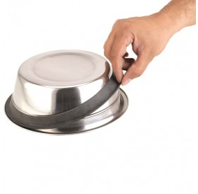 Nobby Double Bowl Stainless Steel Silent Diner M /Поставка С Две Метални Купи Ø16,5см/-2x750мл