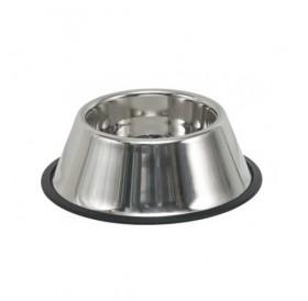 Nobby Stainless Steel Bowl 850ml /Купа От Неръждаема Стомана С Гумирана Основа За Породи Кучета С Дълги Уши 850мл/-Ø24,5см