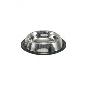 Nobby Stainless Steel Bowl 200ml /Купа От Неръждаема Стомана С Гумирана Основа 200мл/-Ø15,5x3см