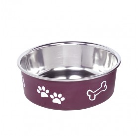 Nobby Stainless Steel Bowl FUSION S /Купа От Неръждаема Стомана С Гумена Основа 500мл/-Ø13см