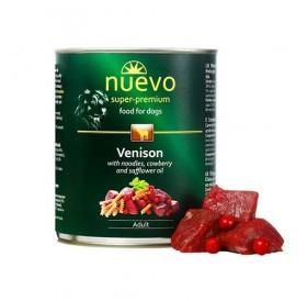 Nuevo Dog Adult Venison Pasta&Cranberry /храна за израснали кучета с месо от елен паста и червени боровинки/-400гр