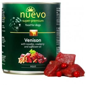 Nuevo Dog Adult Venison Pasta&Cranberry /храна за израснали кучета с месо от елен паста и червени боровинки/-800гр