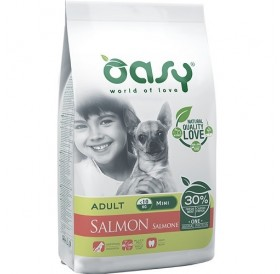 Oasy® Monoprotein Adult Mini Salmon /храна за израснали кучета от дребни породи със сьомга/-2,5кг
