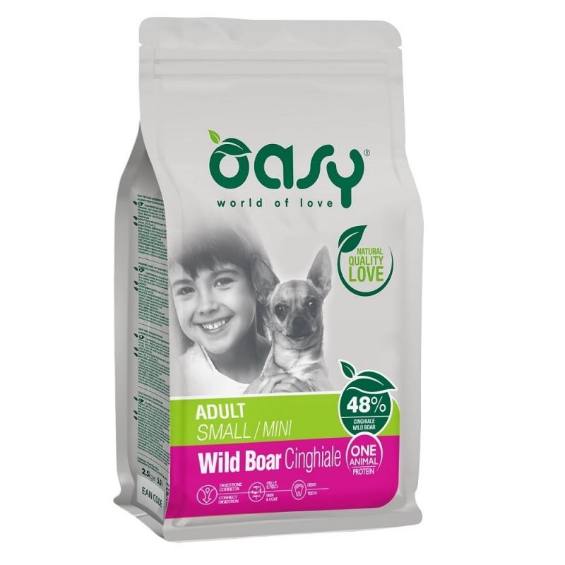 Oasy® Monoprotein Adult Small Mini Wild Boar /храна за израснали кучета от мини и малки породи с глиганско/-2,5кг