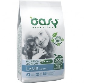 Oasy® Monoprotein Puppy&Junior Mini Lamb /храна за подрастващи кученца дребни породи/-2,5кг