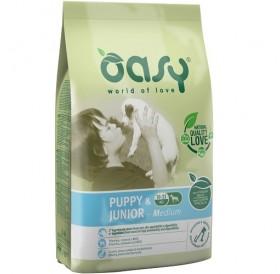 Oasy® Puppy&Junior Medium /храна за подрастващи кученца средни породи/-12кг