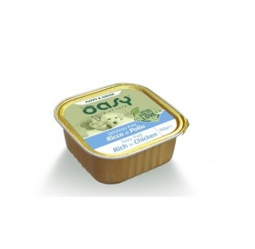 Oasy® Puppy&Junior Chicken /храна за подрастващи кученца с пилешко месо/-150гр