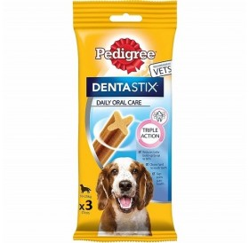 Pedigree Denta Stix Medium /Дентални Лакомства За Израснали Кучета Средни Породи/-77гр