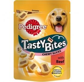 Pedigree Tasty Bites Chewy Slices With Beef /Лакомства За Израснали Кучета Дъвчащи Парченца С Говеждо Месо/-155гр