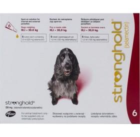 Stronghold 120mg spot on /обезпаразитяващи пипети за кучета от 10 до 20кг/-3бр