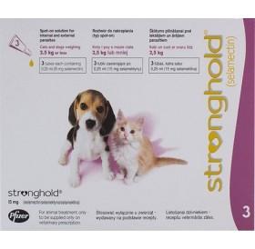 Stronghold 15mg spot on /обезпаразитяващи пипети за кучета и котки до 2,5кг/-3бр