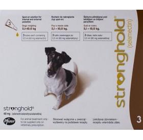 Stronghold 60mg spot on /обезпаразитяващи пипети за кучета от 5 до 10кг/-3бр