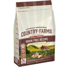Country Farms GRAIN FREE Recipe Adult Small Breed Rich In Turkey /Храна За Израснали Кучета Дребни Породи С Пуешко Месо/-2,5кг